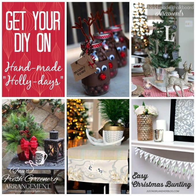 Easy Christmas Bunting Banner | JustAGirlAndHerBlog.com