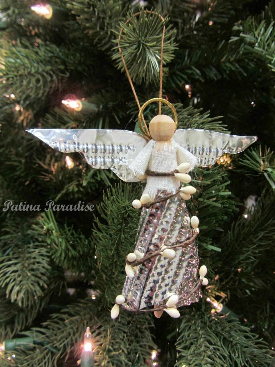 handmade angel christmas ornament by patina paradise christys pick - Handmade Angels Christmas Decorations