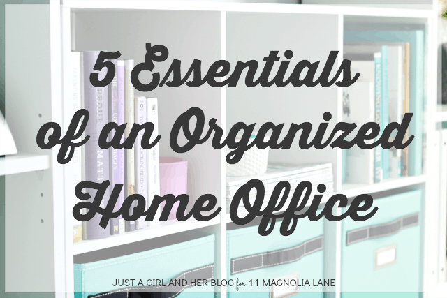 Abby from Just a Girl And Her Blog\'s Organized Office   11 Magnolia Lane