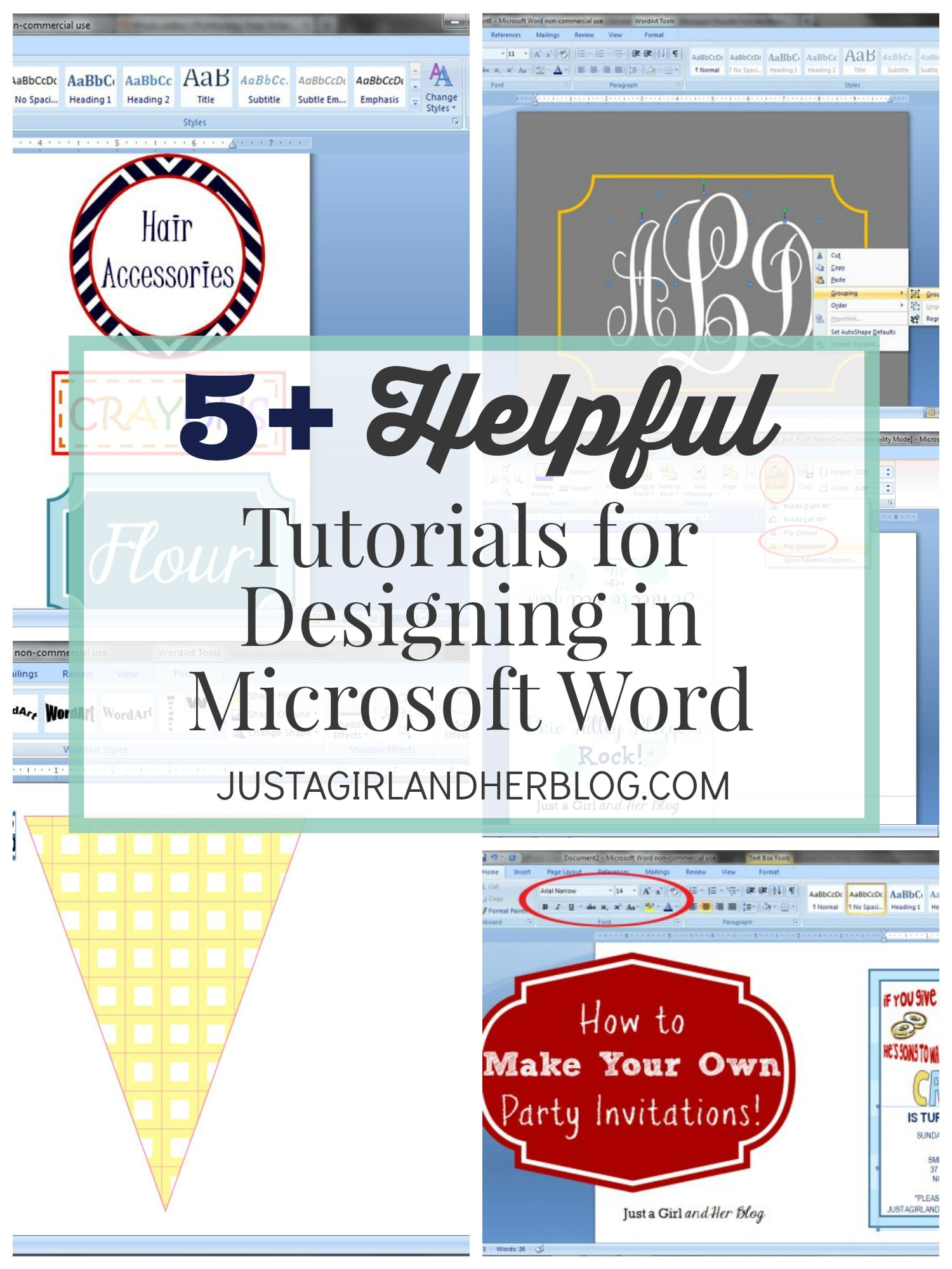 5 helpful tutorials for designing in microsoft word justagirlandherblogcom