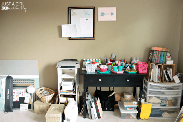 5 Essentials for an Organized Home Office | JustAGirlAndHerBlog.com