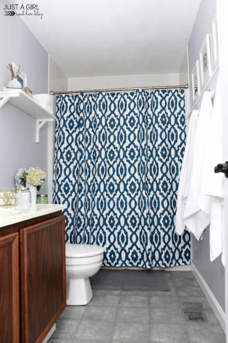 The Cs' Bathroom Refresh Reveal | JustAGirlAndHerBlog.com