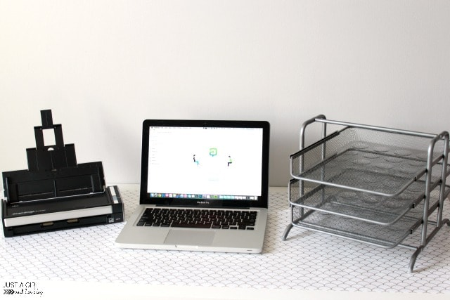 5 Essentials of an Organized Home Office | JustAGirlAndHerBlog.com
