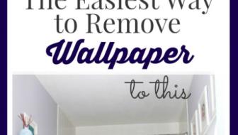 The Easiest Way to Remove Wallpaper | JustAGirlAndHerBlog.com