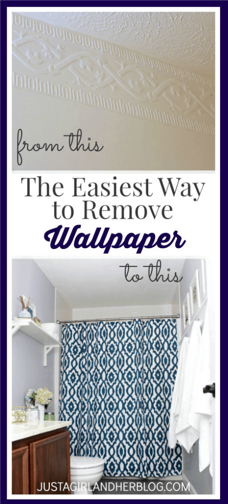 The Easiest Way to Remove Wallpaper | JustAGirlAndHerBlog.com
