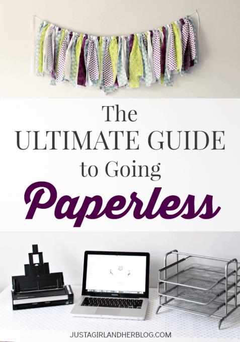 The Ultimate Guide to Going Paperless | JustAGirlAndHerBlog.com