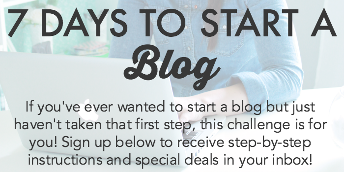 7 Days to Start a Blog