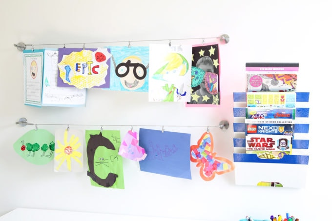 How to Display Kids' School Paperwork; Organize kids' school papers and memorabilia by creating a simple system that eliminates clutter while still preserving your special memories! | #paperwork #organizedpaperwork #kidspaperwork #schoolpapers #kidspapers #organization #organized