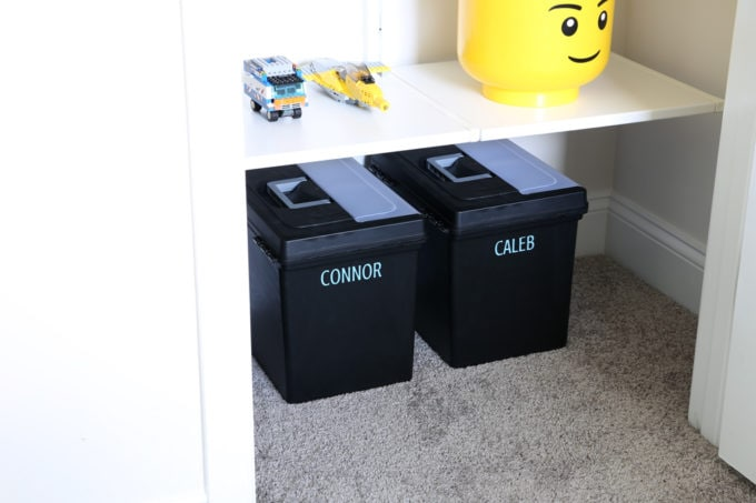 File Boxes for Kids' School Papers, Organize kids' school papers and memorabilia by creating a simple system that eliminates clutter while still preserving your special memories! | #paperwork #organizedpaperwork #kidspaperwork #schoolpapers #kidspapers #organization #organized