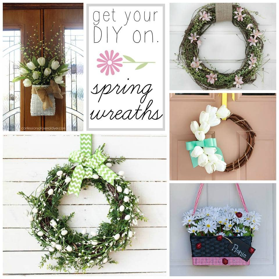 A Sweet And Simple Spring Wreath Just A Girl And Her Blog