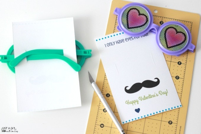 I Only Have Eyes for You Valentines {with FREE printables!} | JustAGirlAndHerBlog.com