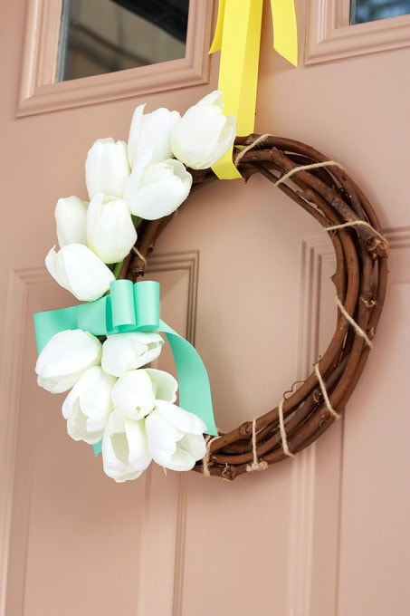 A Sweet and Simple Spring Wreath | JustAGirlAndHerBlog.com