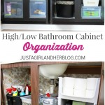 High/Low Bathroom Cabinet Organization