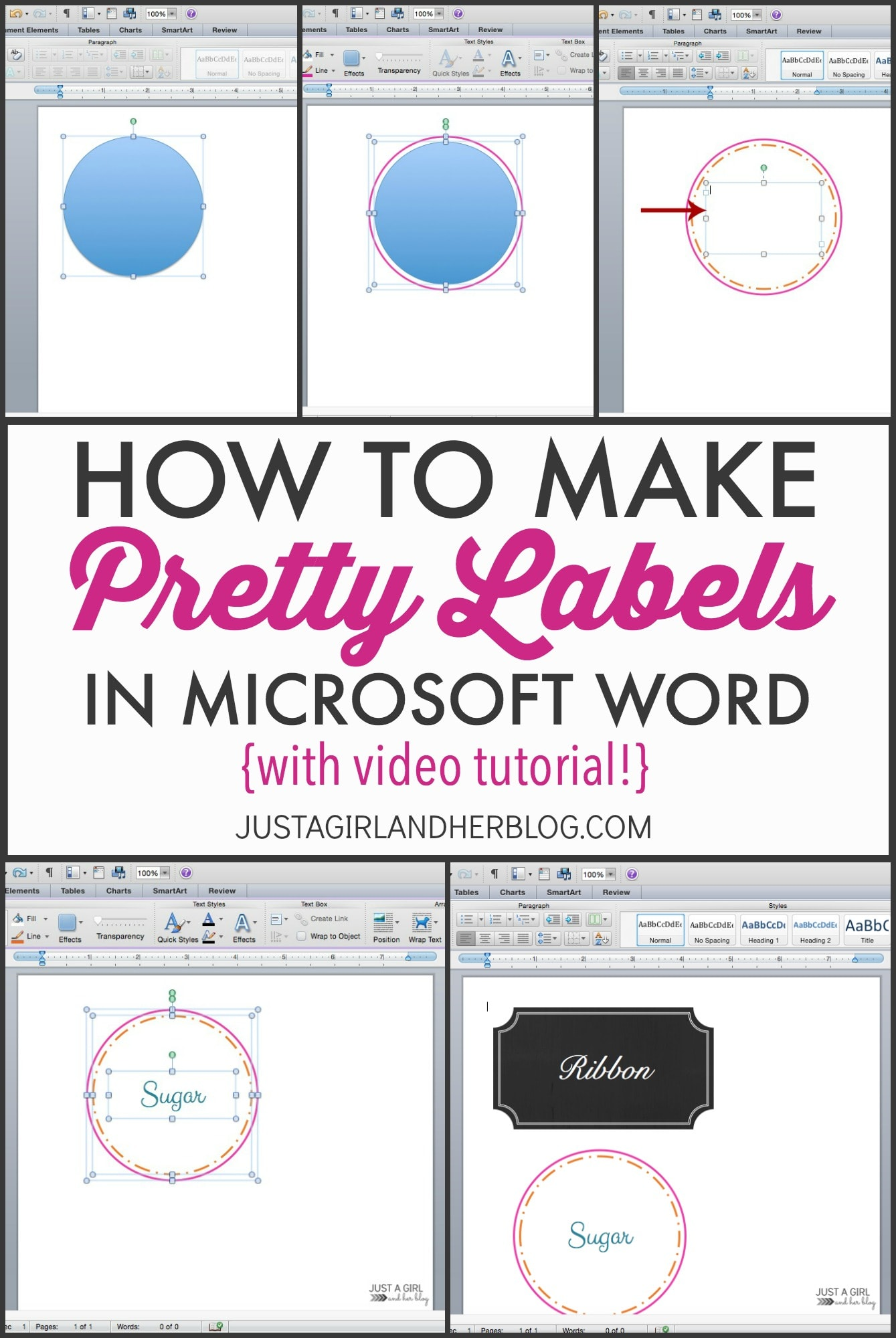 Video How To Make Pretty Labels In Microsoft Word Just