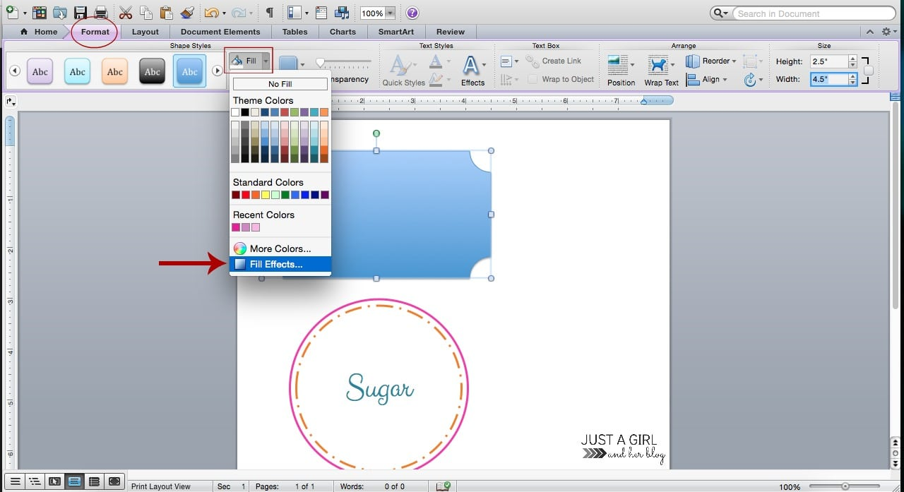 How To Make Pretty Labels In Microsoft Word | JustAGirlAndHerBlog.com  Labels Word Template