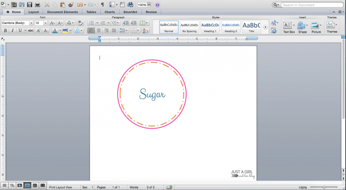 How to Make Pretty Labels in Microsoft Word | JustAGirlAndHerBlog.com