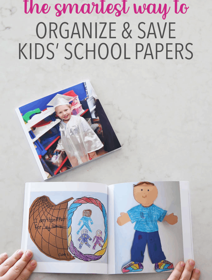 The Smartest Way to Organize and Save Kids' School Papers, Organize kids' school papers and memorabilia by creating a simple system that eliminates clutter while still preserving your special memories! | #paperwork #organizedpaperwork #kidspaperwork #schoolpapers #kidspapers #organization #organized