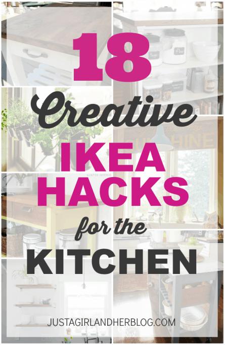 18 Creative IKEA Hacks for the Kitchen | JustAGirlAndHerBlog.com