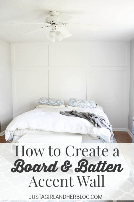 How to Create a Board and Batten Accent Wall | Just a Girl and Her Blog