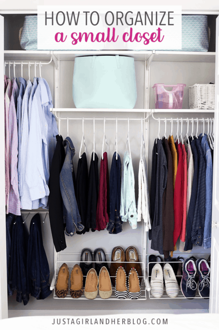 How To Organize A Small Closet Just A Girl And Her Blog