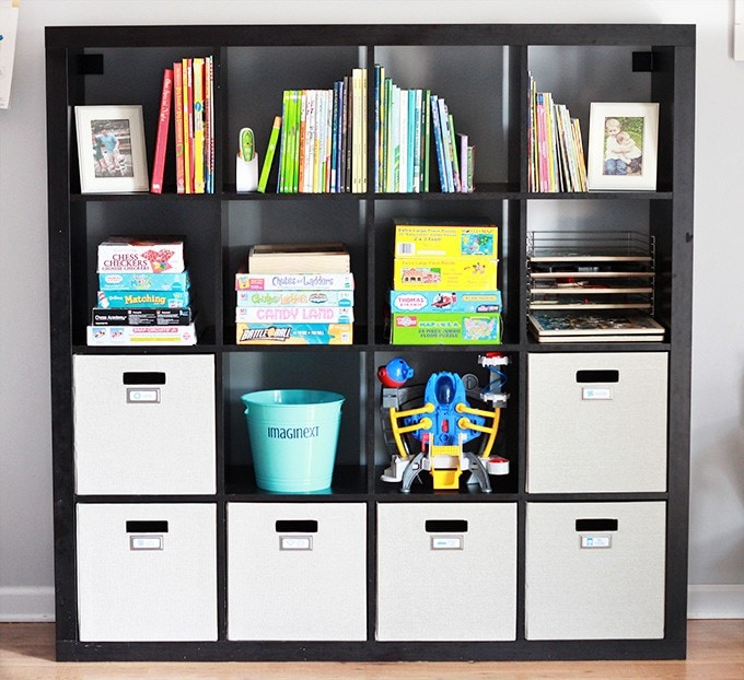 Taming the Clutter: An Organized Playroom | Just a Girl and Her Blog