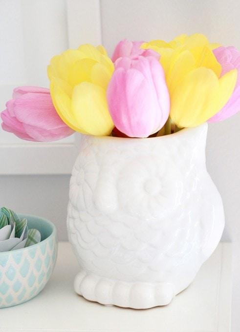 Spring Shelf Decor