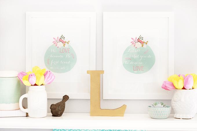 Spring Shelf Decor | JustAGirlAndHerBlog.com