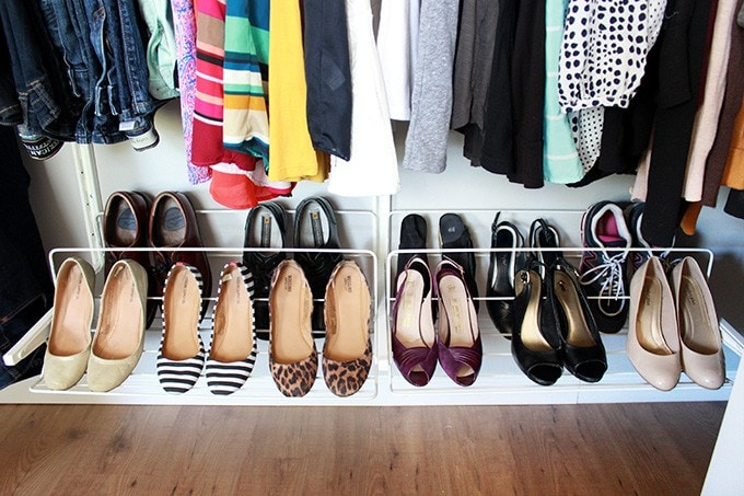 how to organize a small closet just a girl and her blog. Black Bedroom Furniture Sets. Home Design Ideas