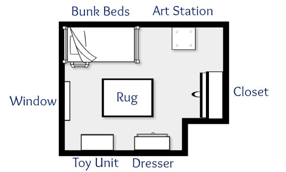Kids Bedroom Plan 5 ways to maximize space in a shared kids' room - just a girl and