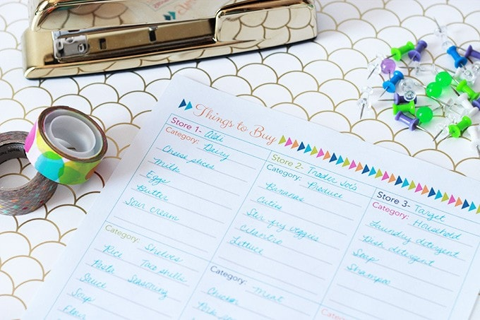 An Organized Shopping List | Just a Girl and Her Blog for The Happy Housie