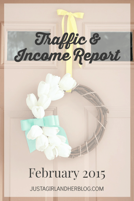 Traffic and Income Report February 2015 | Just a Girl and Her Blog