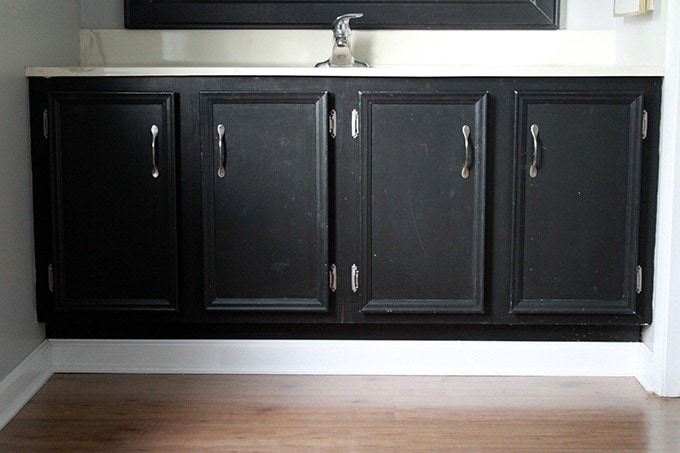 How to Transform a Builder-Grade Vanity | Just a Girl and Her Blog