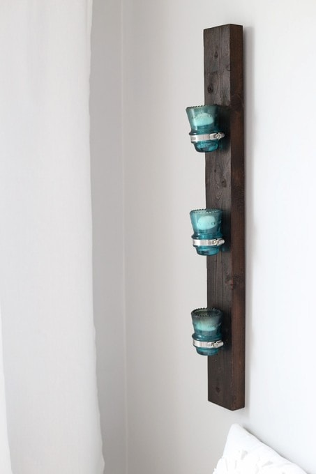 Insulator to Candle Holder Upcycle | Just a Girl and Her Blog