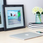 The Easiest Way to Make an Industrial-Style Standing Desk   Just a Girl and Her Blog