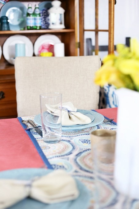 A Bright and Cheery Summer Table | JustAGirlAndHerBlog.com