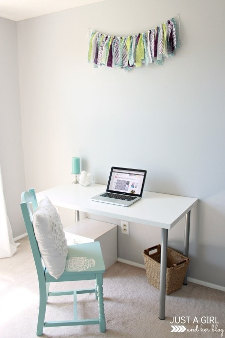 My Favorite Space: My Fabulously Feminine Home Office | JustAGirlAndHerBlog.com