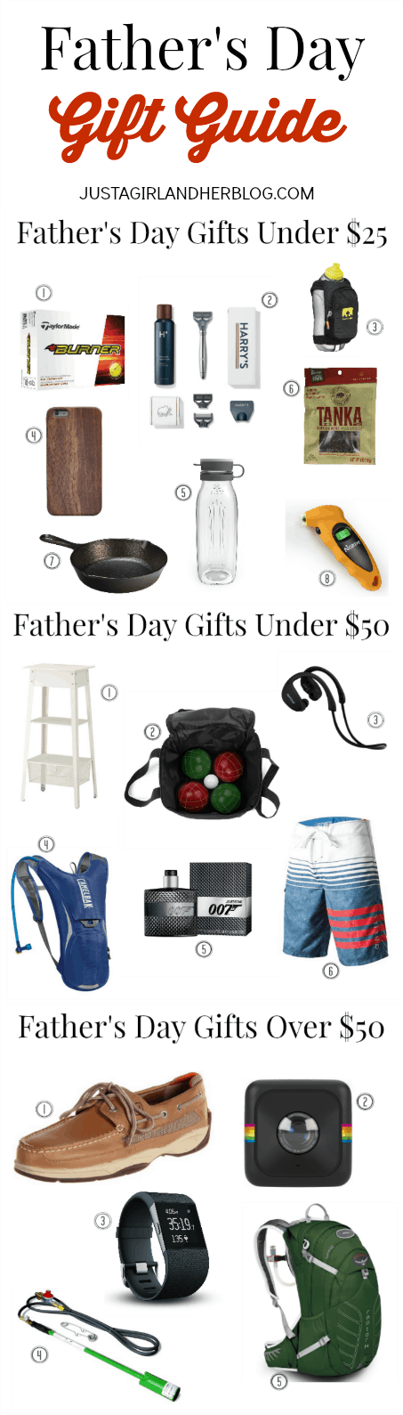 Father's Day Gift Guide 2015 | JustAGirlAndHerBlog.com
