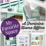My Favorite Space: My Fabulously Feminine Home Office