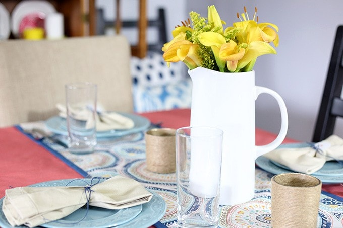 A Bright and Cheery Summer Table   JustAGirlAndHerBlog.com