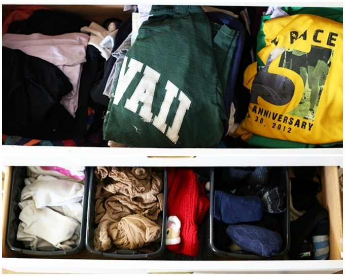 I've heard so much about the KonMari method, and this post explains it perfectly! Guess I'll be organizing all of my clothes today! Click through to the post for examples and details!