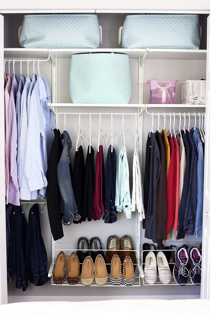 The konmari method organizing clothes just a girl and - Best way to organize bedroom furniture ...