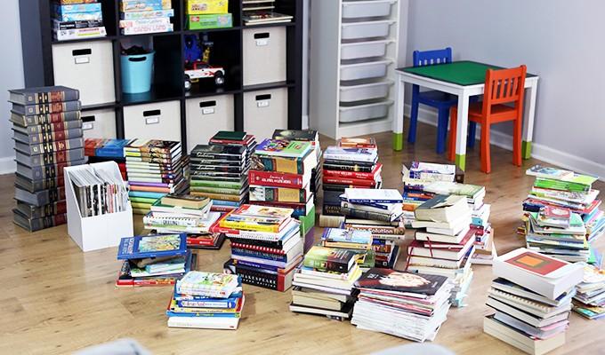 The KonMari Method: Organizing Books   JustAGirlAndHerBlog.com