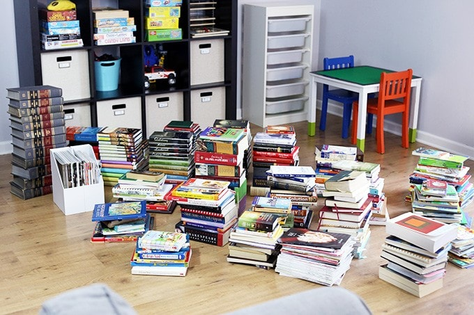 The konmari method pile of books 680x453