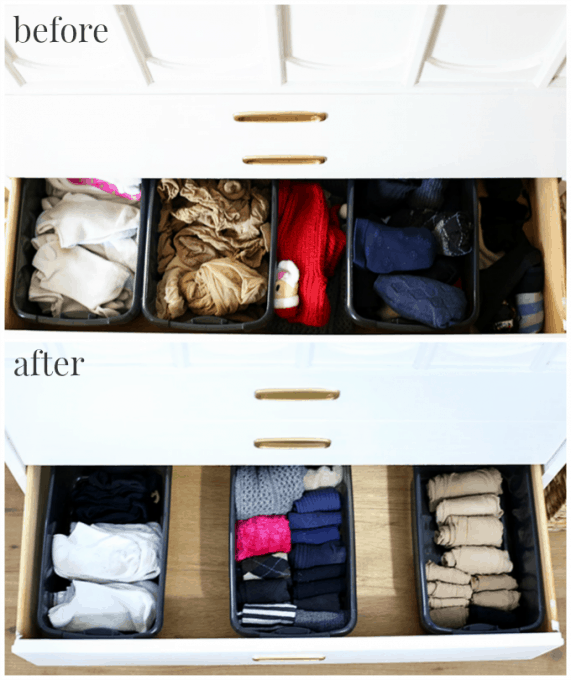The konmari method socks before and after 571x680 png