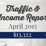 April 2015 Traffic and Income Report