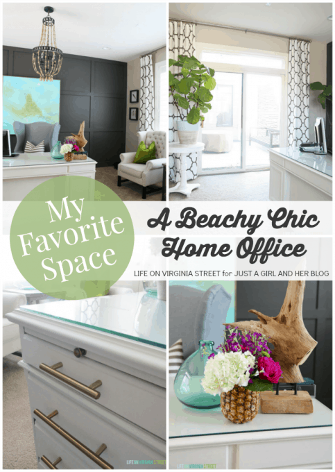My Favorite Space: A Beachy Chic Home Office by Life on Virginia Street