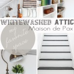 My Favorite Space: A Whitewashed Attic | Maison de Pax for Just a Girl and Her Blog