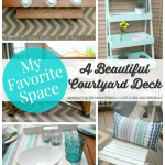 A Beautiful Courtyard Deck | Making It in the Mountains for Just a Girl and Her Blog