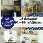My Favorite Space: A Beautiful Two-Toned Kitchen by At Home with the Barkers