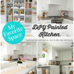 My Favorite Space: A DIY Painted Kitchen by Everyday Enchanting